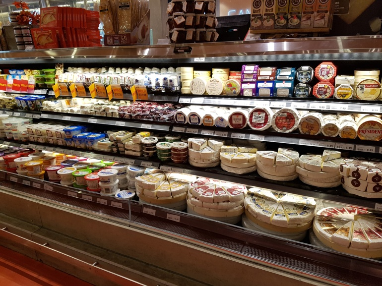 Only a fraction of the cheese selection at Loblaws