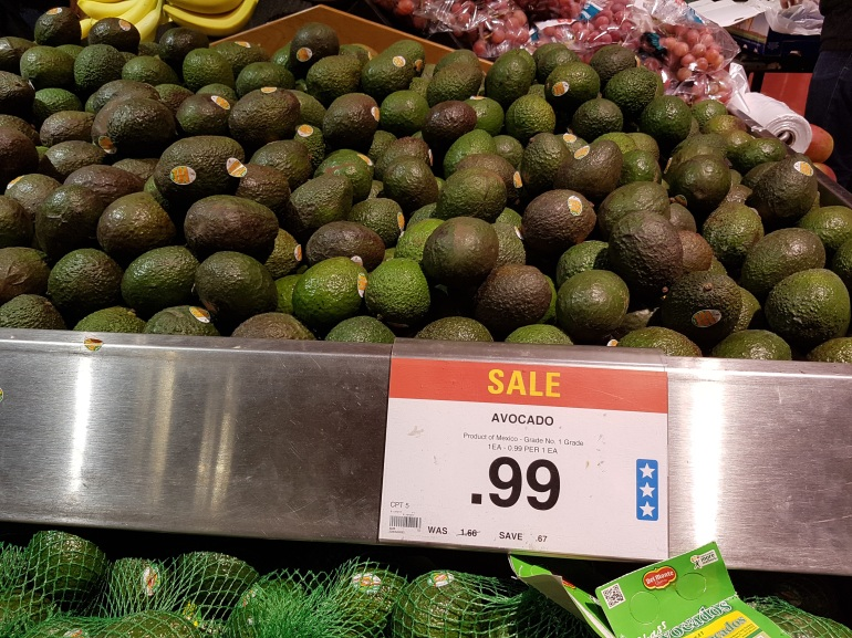 Avocados are cheap - yummmm!