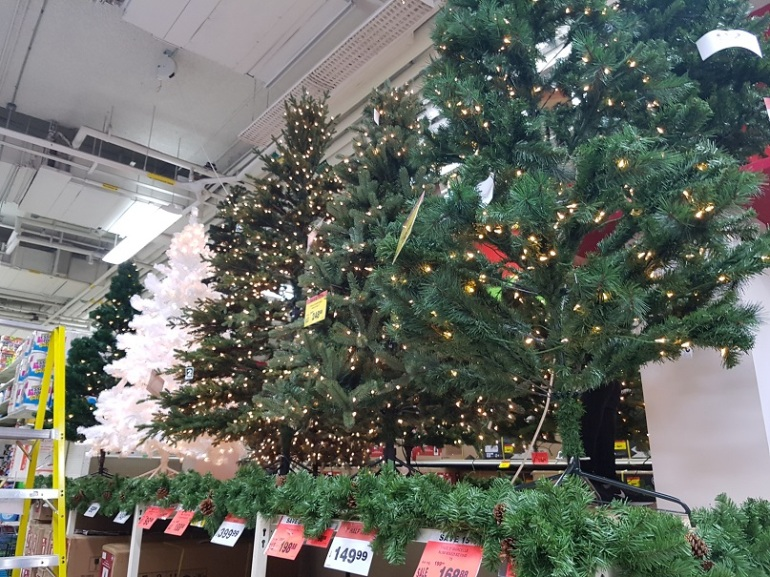 Christmas decorations in Canadian Tire