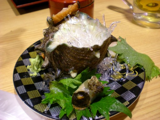 Unusual food at the sushi train - Tokyo