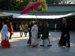 Traditional Japanese wedding - Meiji Temple, Tokyo