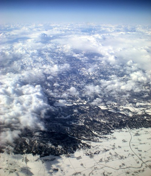 View from the plane - phenomenal!