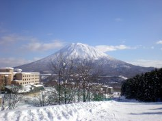 Mt Yotei - Niseko (The Vale is the building at the bottom of the slope on the far right).