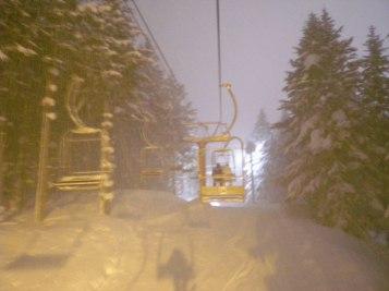 Night skiing - Niseko