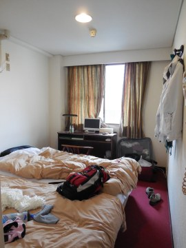 My room at the hostel in Hiroshima