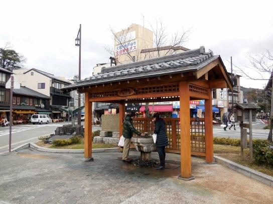 Hot spring drinking fountain - Kinosaki