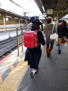 Japanese school bag - very quaint! - Kyoto