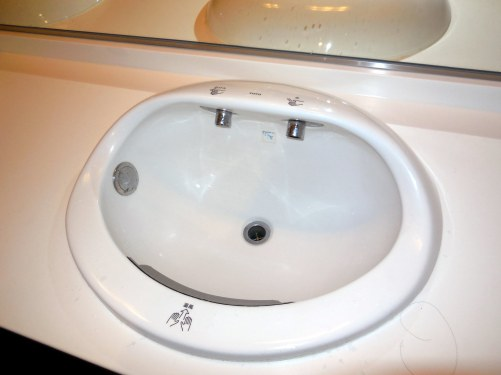 Ingenious hand basin - built in soap and hand dryer - Osaka