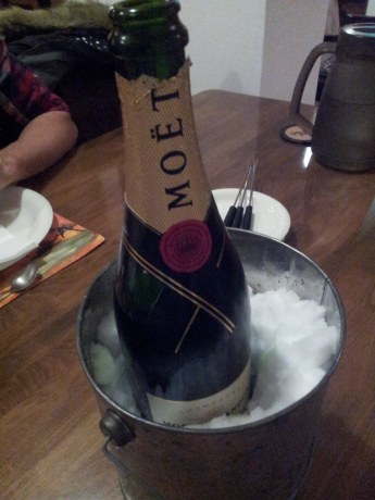 Snow chilled Moet!