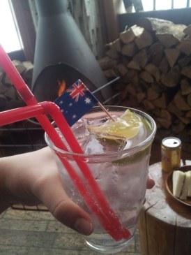 Australia Day drinks at Bigfoot Bar - Niseko
