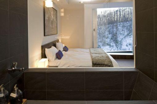 My room in Niseko (yes that view is real!)