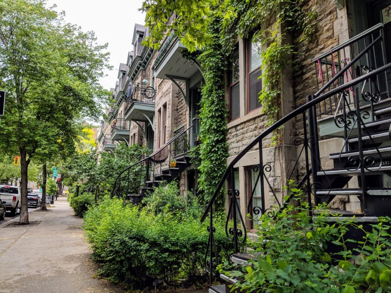 Beautiful streetscape, Montreal