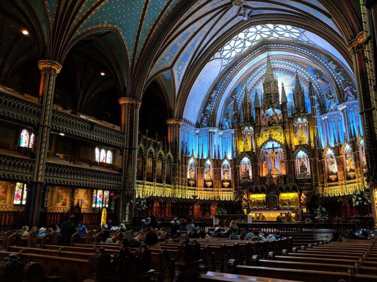 Inside Notre-Dame Basilica, Montreal