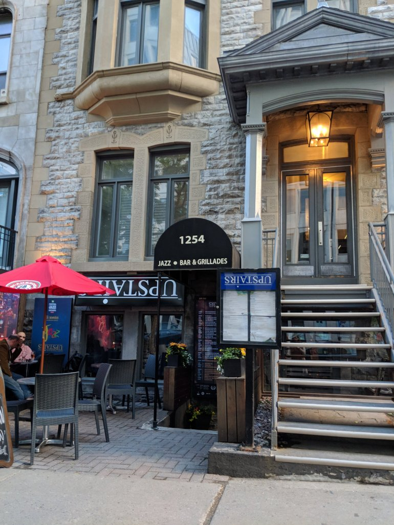 """Jazz bar """"Upstairs"""" in Montreal"""