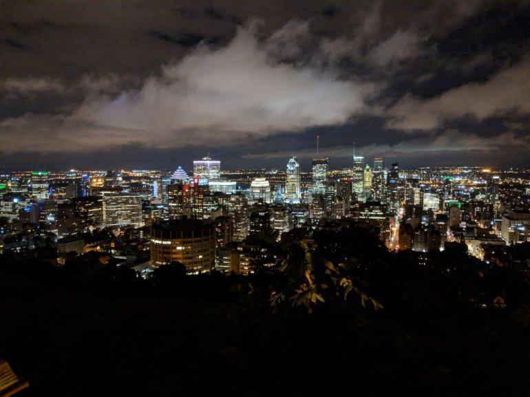 Montreal skyline at night - view from Mont Royal