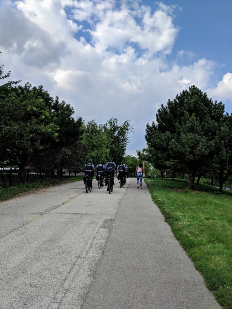 High police presence along the cycling/walking trails in Chicago